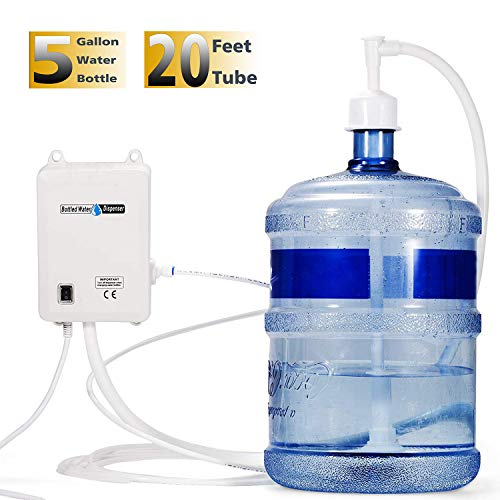 Dolphin Water Pumps - VEVOR Bottled Water Dispensing System 20 ft Water Dispensing Pump System with US Plug 115V AC Perfect for 5 Gallon Bottle (Single Inlet)