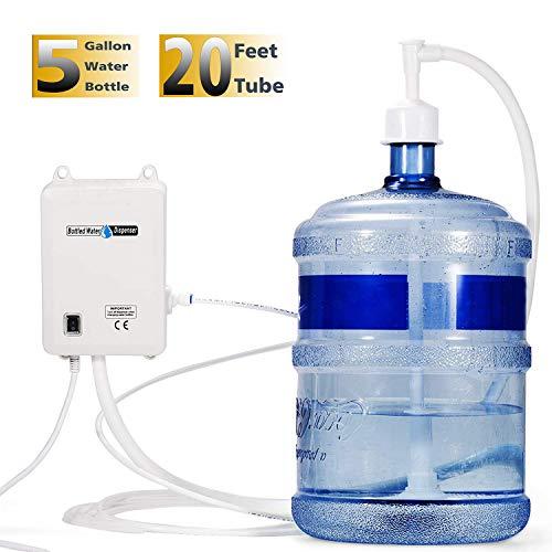 Water Dispensing System - VEVOR Bottled Water Dispensing System 20 ft Water Dispensing Pump System with US Plug 115V AC Perfect for 5 Gallon Bottle (Single Inlet)