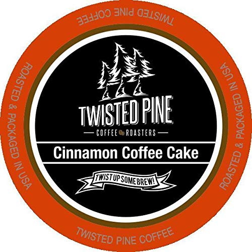 Twisted Pine Cinnamon Coffee Cake Flavored Coffee SingleServe Cups for Keurig KCup Brewers 24 Count