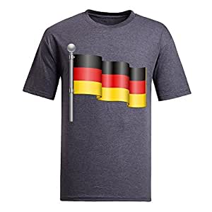 Custom Mens Cotton Short Sleeve Round Neck T-shirt, Printed with World Cup Images gray by icecream design