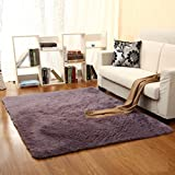 GIANCO FERRO Soft Indoor Modern Area Rugs Faux Fur Sheepskin Rug Fluffy Living Room Purple