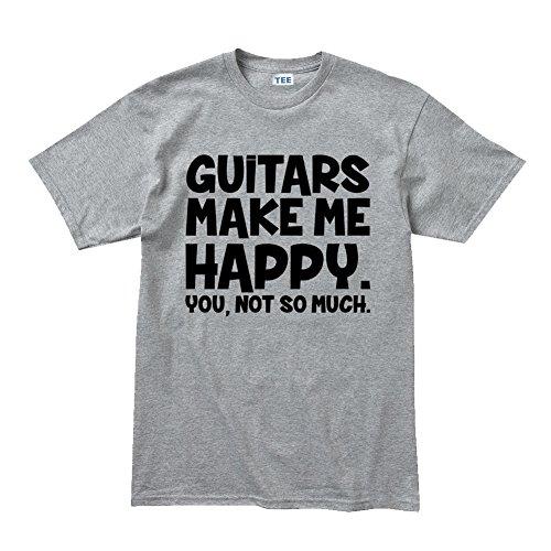 CPT Mens 59 US Standard Les Paul Strat Tele Guitars Make Me Tshirt M Sports Grey
