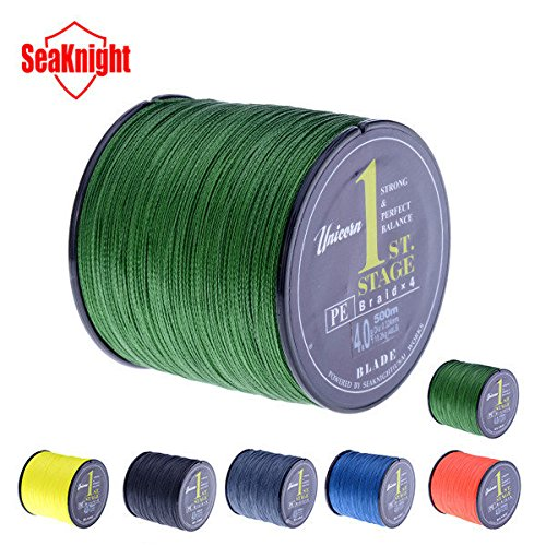 SeaKnight Brand 500M PE Braided Fishing Line Multifilament 20-60LB Fish Line ( 6.0 - Mall Shops Square Park