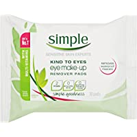 Simple Kind to Eyes Make-Up Remover Wipes Eye, 30 pads