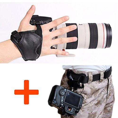 WITHLIN profesional rápido tiro PU cámara agarre banda correa de mano correa de cuero para cámara SLR DSLR(Canon Nikon Sony Pentax Olympus,etc) (agarre de muñeca) WITHLIN-Kit-2