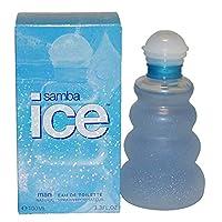 Samba Ice By Perfumers Workshop For Men. Eau De Toilette Spray 3.3 Ounces