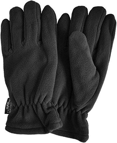 Winter Fleece Handschuhe Schwarz mit Thinsulatefütterung bis -10 Grad Farbe Schwarz Größe L