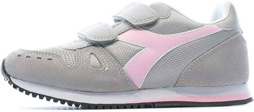 Diadora Simple Run PS, Scarpe da Ginnastica Bambina, Grey Alaska 174383