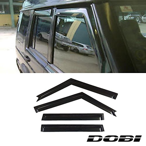 Deebior 4pcs Sun/Rain Guard Vent Shade Window Visors Fit 1999-2004 Land Rover Discovery ()