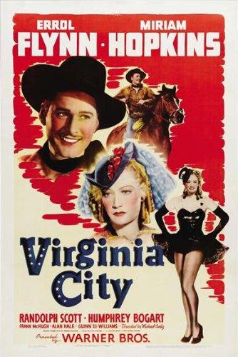 Virginia City Poster 27x40 Errol Flynn Miriam Hopkins Randolph Scott