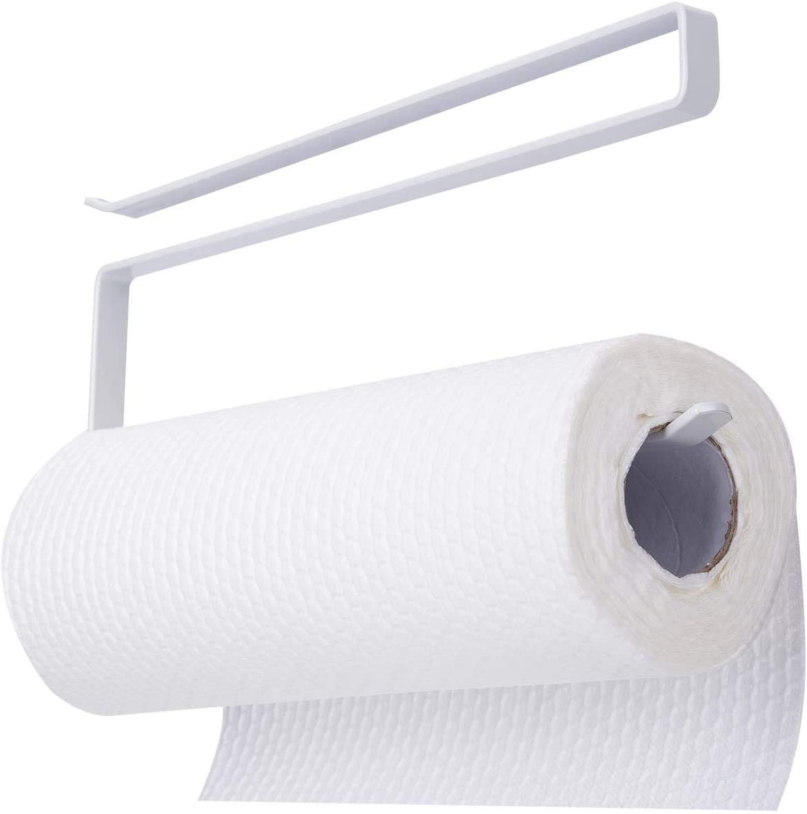Bengvo Paper Holder Towel Holder Underneath Cabinet Rack Holder Over The Door Kitchen Roll Holder Toilet Paper Roll Holder Over The Cabinet (1)