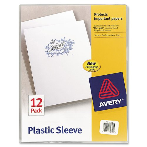 Avery Plastic Sleeves Clear 72311