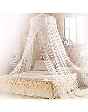 Mopalwin Moskitonetz Baldachin, Moskitonetze für bett Fliegennetz Mückennetz Premium&größte Insektennetz für doppelbett - Weiß