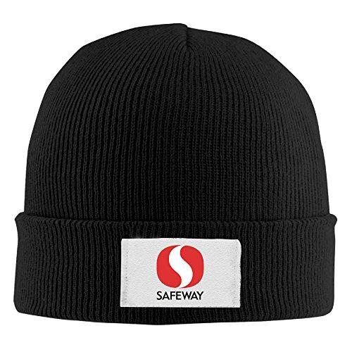 safeway-unisex-fashion-black-flexible-skullies-winter-knit-hats-one-size