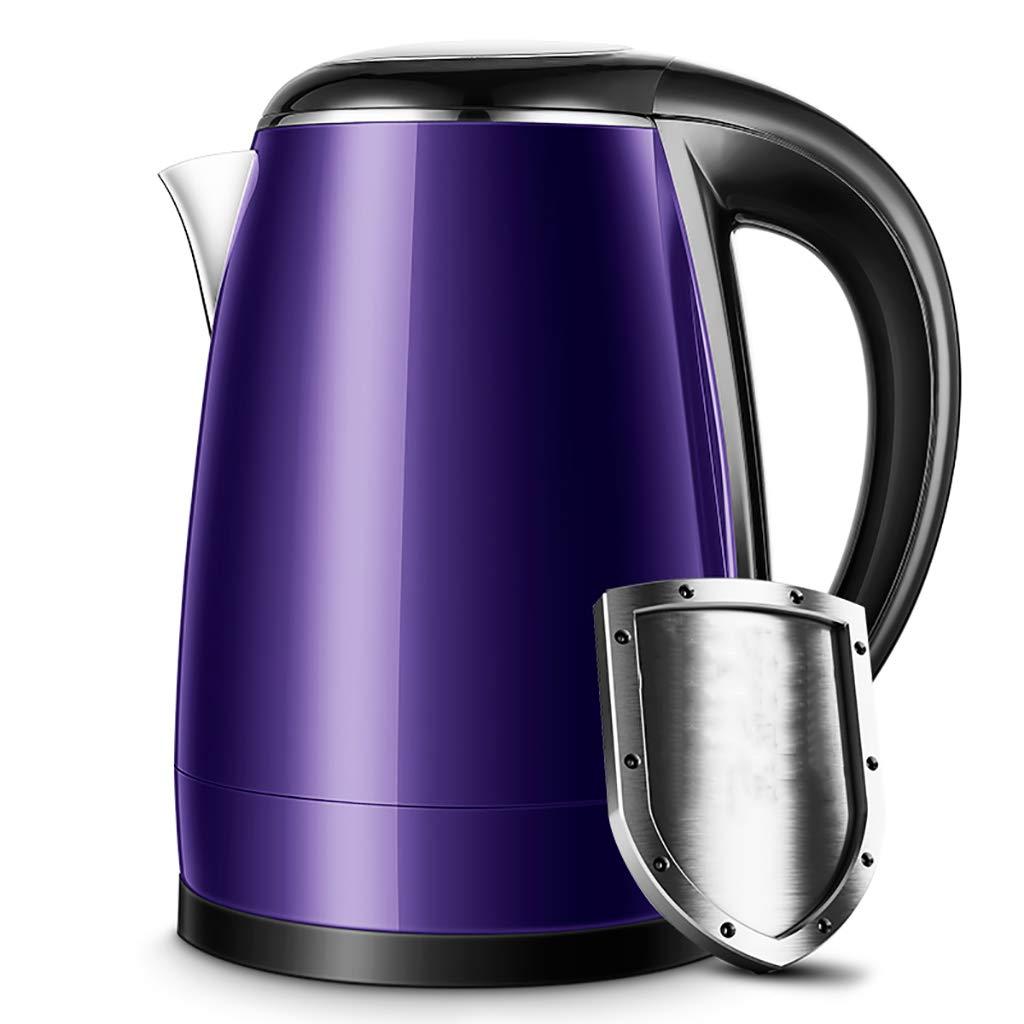 専門店では やかんを離れた電気やかんの世帯の大容量の自動電源(24x28cm) (色 : 紫の, サイズ さいず : 1.8L) 1.8L 紫の B07QHL1CF9, Bijouterie euro flat 21e8703e