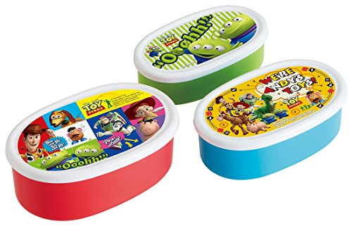Skater Disney Toy Story Nesting Microwavable Food Storage Lunch Box SRS3S - Toy Story Storage