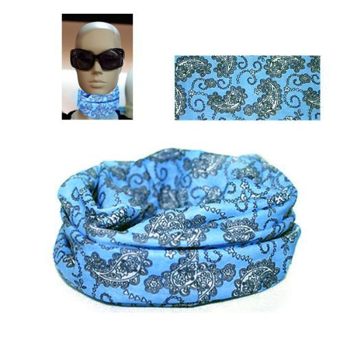 Amazon.com   Multi Headwear Cap Headwrap Tube Scarf Bandana Sky Blue ... 95fa25ba146