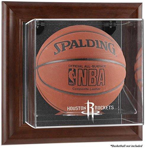 Houston Rockets Framed Wall Mounted Logo Basketball Display Case