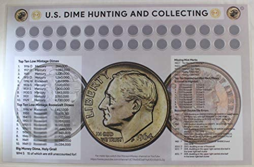2-Sided Laminated Coin Sorting Mat U.S Silver Coins Cents /& U.S