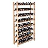 Wakrays 120 Bottle Wood Wine Rack 8 Tier Storage Display Shelves Kitchen Rack