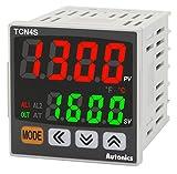Autonics TCN4S-24R Temp Control, 1/16 DIN, Dual display 4 Digit, PID Control, Relay & SSR Output, 2 Alarm Output, 100-240 VAC