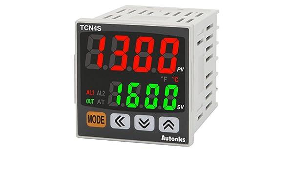 Autonics TCN4S-22R Temp Control, 1/16 DIN, Dual display 4 Digit, PID Control, Relay & SSR Output, 2 Alarm Output, 24VAC/24-48VDC: Amazon.com: Industrial & ...