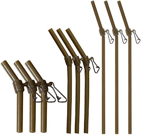 5 Stk. Abstandhalter Anti Tangle feeder mit Wirbel schwarz verschiedene Größen