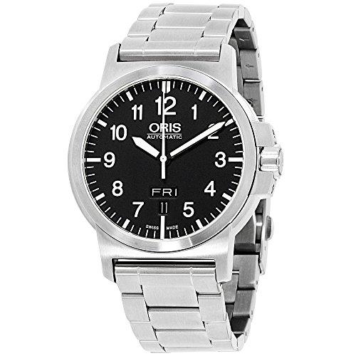 Oris BC3 Black Dial Stainless Steel Men's Watch 73576414164MB