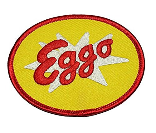 Stranger Things Eggo Waffles 3 1/2 Inch Wide Embroidered Iron On Patch