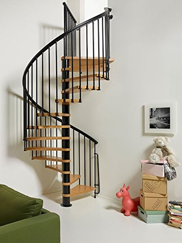 wood spiral staircase kit - 1