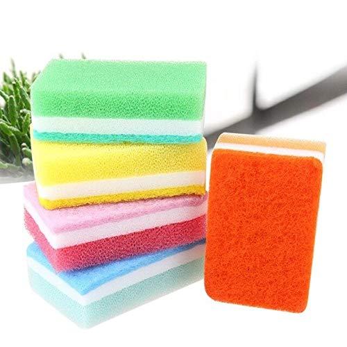 Dish Washing Sponge - 5 Cleaning Scouring Tool Kitchen Bowl Pan Dish Washing Sponge Soft Wipe Brush - Cadge Smasher Lulu Knockout Bum Looker Mooch Serve Parasite Saucer - - Pan Looker