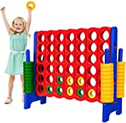 """Safeplus Giant 4 in A Row Classic Game Set, 47"""" Jumbo 4-to-Score Toy Set,Fun Indoor & Outdoor Connect Four"""