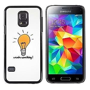 TECHCASE**Cubierta de la caja de protección la piel dura para el ** Samsung Galaxy S5 Mini, SM-G800, NOT S5 REGULAR! ** Creativity Motivational Quote Light Bulb Art