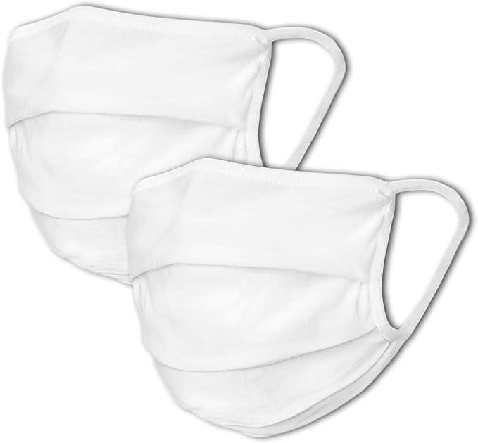 3er Pack Mund-Nasen-Schutz Stoffmaske weiß Baumwolle OEKO-TEX 100 Standard