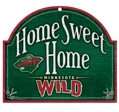 Nhl Minnesota Wild 10 By 11 Wood  Home Sweet Home  Sign