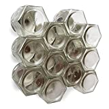 Gneiss Spice DIY Magnetic Spice Rack: Includes Empty Large Hexagon Jars (4 ...