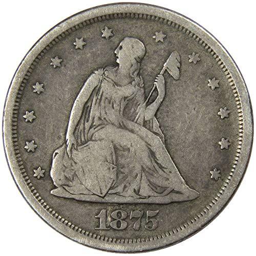 1875 S Liberty Seated Twenty Cent Piece Very Good