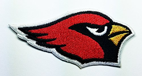 Cardinal Patch - Arizona Cardinals Patch Embroidered Iron on Hat Jacket Hoodie Backpack Ideal for Gift/ 7.5cm(w) X 3.5cm(h)