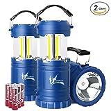 LED Camping Lantern - Portable LED Camping Lantern with Flashlight, Dealbang COB Strip Camping Gear (2-Pcs, Blue)