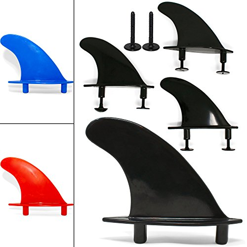 Universal Soft Top Surfboard Fins - Safe Round - Edged Fins for Foam Surf Boards ()
