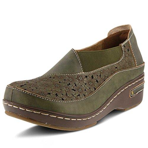 Spring Slip Para Mujer Brunbak Slip On Shoe Verde