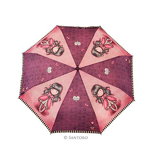 Gorjuss - Paraguas Plegable Manual Ladybird (Santoro 76-0005-10LB): Amazon.es: Zapatos y complementos