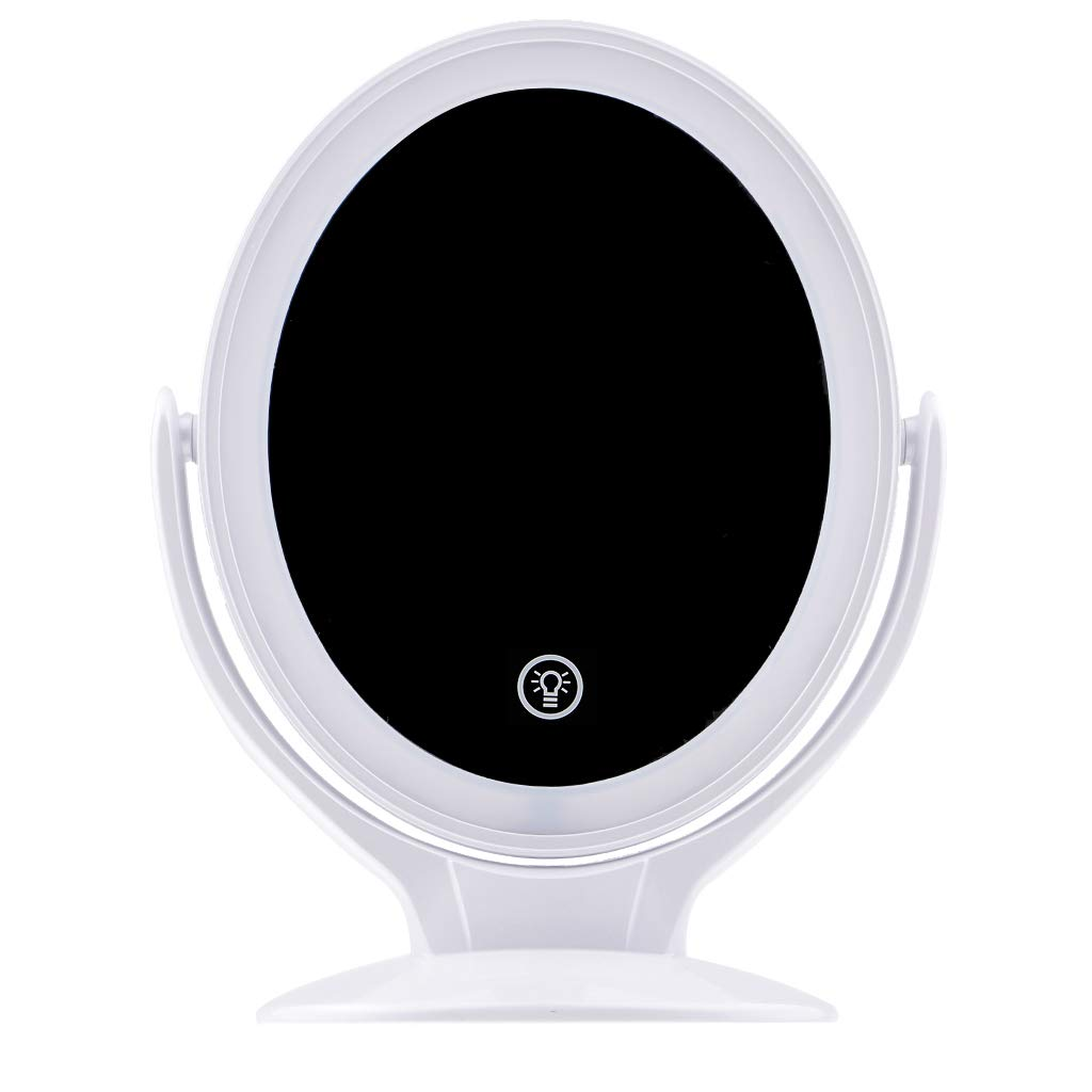 Baosity Makeup Mirror Touch Control LED Light Cosmetic Mirror 360 Degree Rotating
