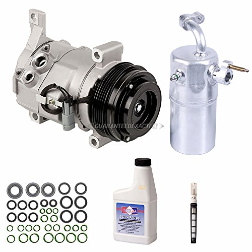AC Compressor w/A/C Repair Kit For Chevy Silverado Tahoe Suburban GMC Sierra Yukon Cadillac Escalade w/o Rear AC - BuyAutoParts 60-89046RK New