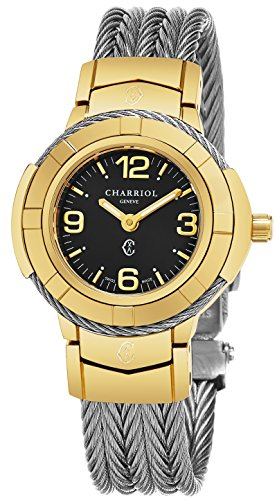 charriol-womens-celtic-27-mm-black-dial-gold-plated-case-stainless-steel-swiss-quartz-watch-ce426y16
