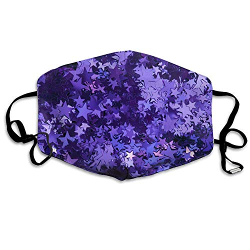 Medical Procedure Masks,Purple_foil_Stars Dustproof Earloop Face Mask Great for Dental Surgical Allergy Pollen Antiviral Mouth Travel
