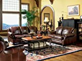 3pc-Princeton-Tri-Tone-Burgundy-Leather-Sofa-Loveseat-Recliner-Chair-Set