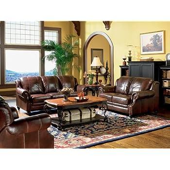 3pc Princeton Tri Tone Burgundy Leather Sofa Loveseat U0026 Recliner Chair Set