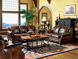3pc Princeton Tri-Tone Burgundy Leather Sofa Loveseat u0026 Recliner Chair Set : leather sofa and loveseat recliner - islam-shia.org
