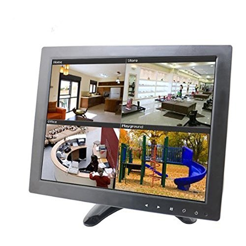 Sourcingbay Updated YT10 CCTV Monitor 9.7 inch TFT LCD Screen with AV, HDMI, BNC, VGA Input for PC Security Cam CCTV DVR System Pixels 1024 x 768 (Black)